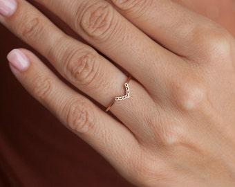Rose Gold Wedding Ring, Rose Gold Band, Rose Gold V band, Lace Band, Lace Ring, Stacking Wedding Ring, Stacking Wedding Band