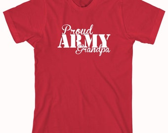 Proud Army Grandpa Shirt, soldier, navy, army, air force, marine, gift idea for grandpa - ID: 491