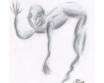 The lowbrow Genie - ORIGINAL ART