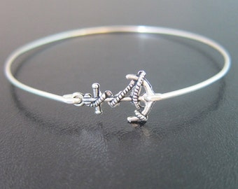 Anchor Bracelet, Sailor Bracelet, Charm Small Sized, Anchor Jewelry, Ocean Themed Jewelry