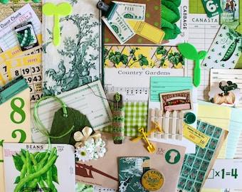 Country Garden*Garden Inspiration Kit*Green Garden Ephemera Pack*Garden Journal, Scrapbook, Card, Collage, Supplies