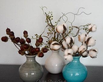 Rustic Farmhouse Bud Vase Set - 3 Pieces