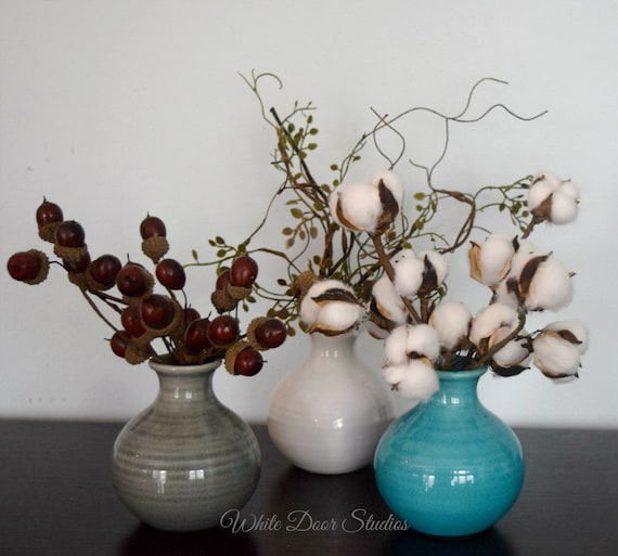 Rustic Farmhouse Bud Vase Set - 3 Pieces