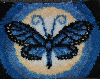 Latch Hook, Rug, Hangable, Butterfly, Gift, Unique