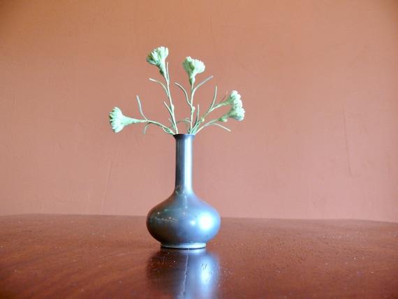 Royal Holland Pewter Bud Vase Rustic Metal Vase Mid Century