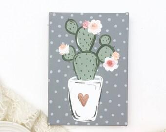 Cute Cactus Gift, Cactus Painting, Cute Cactus, Cactus Gifts, Cactus, Cactus Florals, Gift for Her