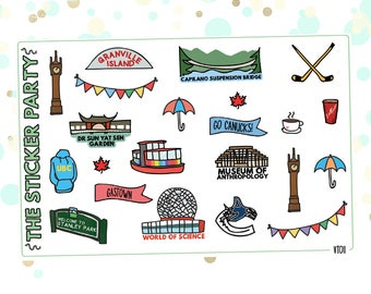 Vancouver Planner Stickers