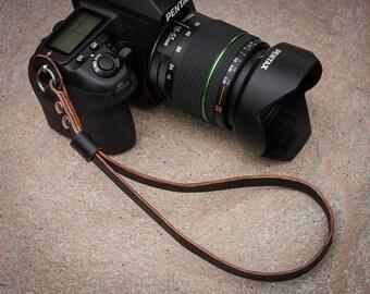 English Bridle Leather camera wrist strap