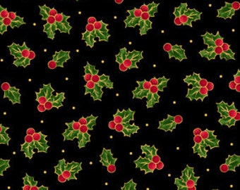 Sounds of the Season Holly Fabric From Quilting Treasures