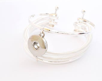 1 cuff bracelet for 18mm snap button