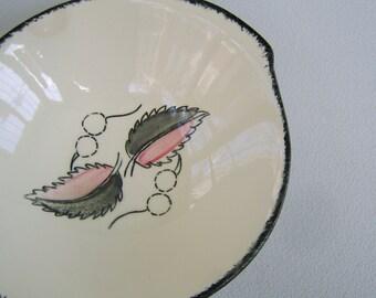 Vintage Blue Ridge Pottery Bowl Wild Cherry 2 Pallisades