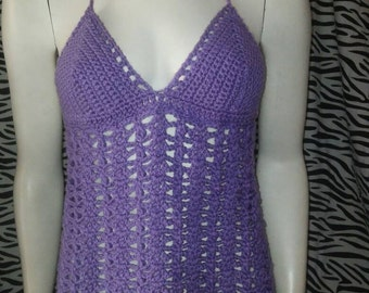 Purple Handcrocheted Haltertop