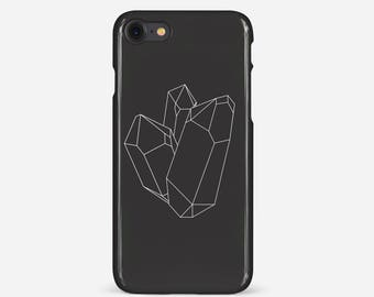 Black and White Crystal Phone Case / iPhone - Samsung