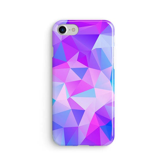Polygon geometric purples  iPhone X case - iPhone 8 case - Samsung Galaxy S8 case - iPhone 7 case - Tough case 1P049