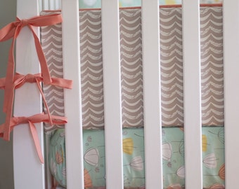 Littlest. Girl Crib Bedding. Coral and Mint Baby Bedding. Ruffle Crib Skirt. Floral Crib Bedding. Girl Crib Bumper. Floral Crib Sheets.