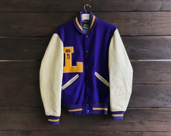 Vintage 60s Whiting Football JV Letterman Jacket