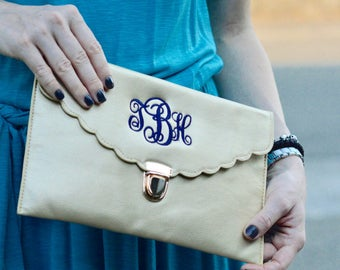 ENVELOPE CLUTCH BAG - Monogrammed Clutch - Evening Bag - Monogrammed Purse - Crossbody Purse - Clutch Purse - Gift For Her - Cute Purse