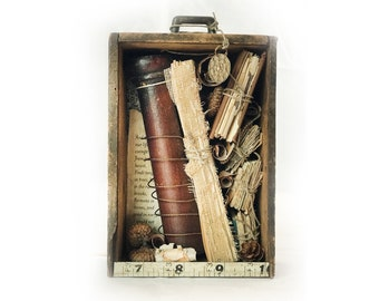 Shakespeare Quote Assemblage — As You Like It Quote Assemblage — Small Assemblage for Book Lovers