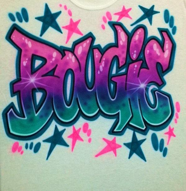 Airbrush T Shirt Graffiti Style Letters Airbrush Graffiti