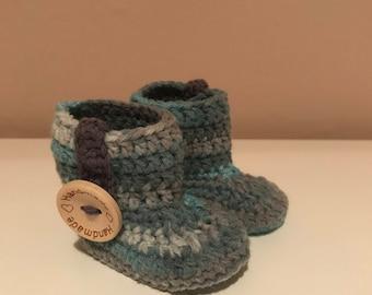 Crochet Baby Booties   Newborn Baby Shoes
