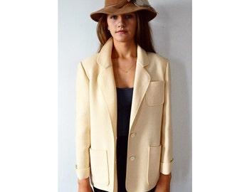 Vintage Weinberg Winter White Fall Jacket, Auckie Sanft, Fall Ladies Jacket, 1970s Jacket, Ladies Jacket, Fall Fashion