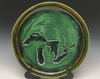 """14"""" Great Lakes Stamped platter"""
