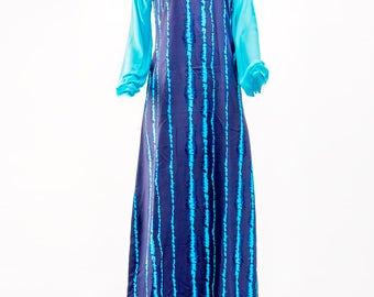 Adire Inspired Long Easy Wear Gown