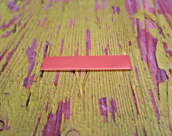 """Copper 1/4"""" x 1 1/2"""" Rectangle Stamping Blanks - Copper Tags"""