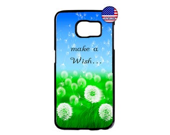 Colorful Flowers Dandelion Wish Quote Hard Rubber Case Cover For Samsung Galaxy S9 S8 S7 S6 Edge Plus S5 S4 S3 NOTE 8 5 4 3 iPod Touch 4 5 6