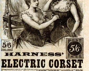 Harness Electric Corset Vintage Advertising - Art Print