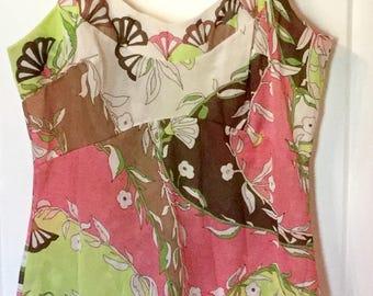 Vintage Pucci for Formfit Rogers slip top mini 60s floral EPFR lingerie