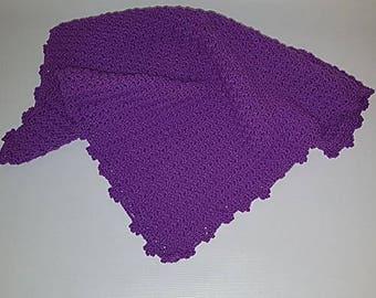 Gorgeous hand crochet baby blanket - Purple