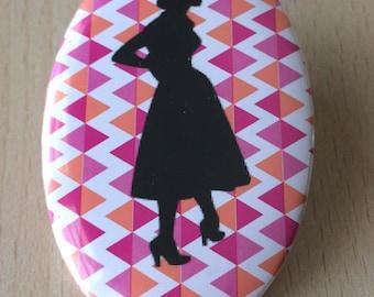 badge / brooch vintage silhouette fashion 11
