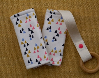Ivory Triangles Organic Baby Carrier Teething Pads. Drool Pads. Baby Wearing. Protective Pads. Teething Pads. Ergo. Boba. Beco. Lillebaby.