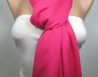 Clothing Gift Travel Gift Fuchsia Pashmina Scarf Hot Pink Scarf Women Accessories Christmas Gift For Her For MomWomen Scarf Gift For Women