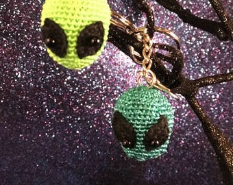 Alien Head Keychain Bag Charm - READY TO SHIP
