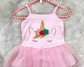 Girls Pink Unicorn Tutu Dress / Pink Dress / Baby Pink Dress / Tutu Dress / Unicorn Tutu / Unicorn