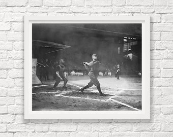 Baseball Art - Baseball Photograph - Vintage Baseball - Baseball Wall Art - Black And White Photograph - Photography - Photo - Old Baseball