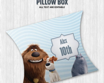 The Secret Life of Pets Pillow Boxes
