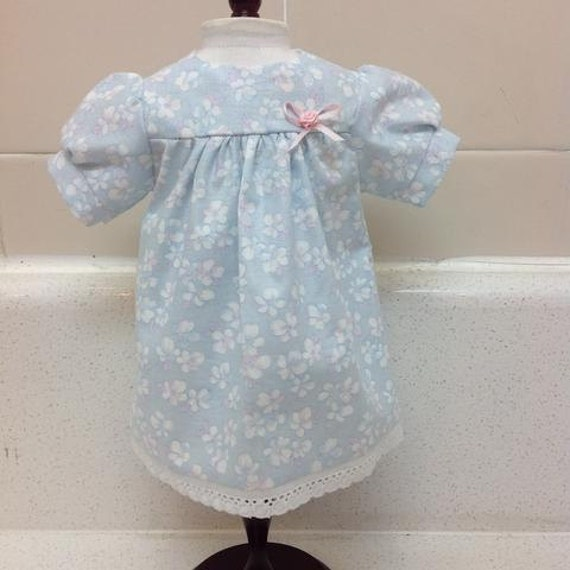 Blue Baby Doll Dress (Will fit Bitty Baby, too) American Made 18 Inch Doll Clothes