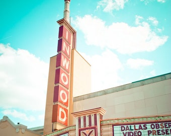 Dallas Texas Neon Sign Vintage Retro - Fine Art Photograph - Inwood Theater