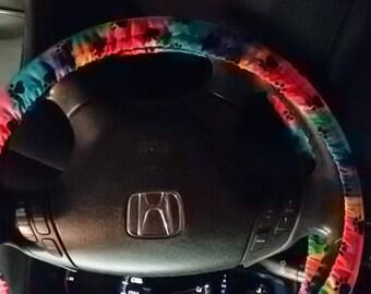 Rainbow Paws Steering Wheel Cover