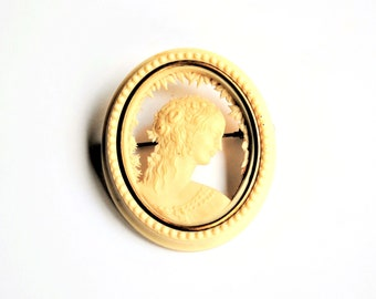 Antique French Celluloid Brooch