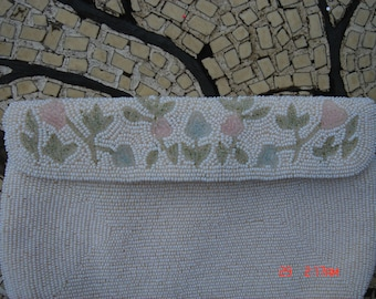 Vintage Glass Beaded Bag/Purse - Hand made in Japan - Beautiful
