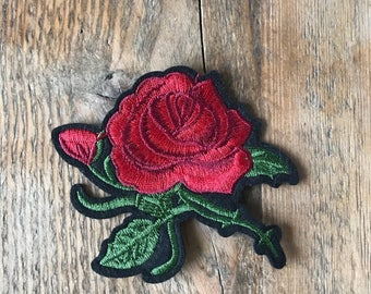 Rose patch 7cm x 8cm