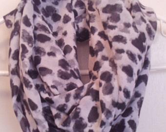 Cheetah Infinity Scarf, Chiffon cheetah scarf, infinity scarf, infinity scarves, chiffon scarf, chiffon scarves, 8 x 72