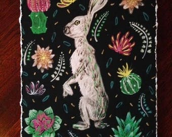 "Jack Rabbit - Signed Giclée Print - 5x7"""
