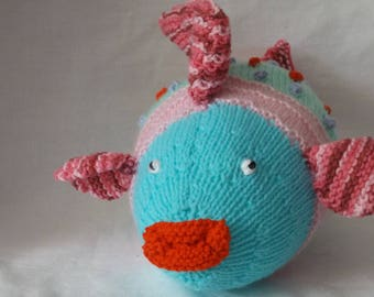 Knitted Rainbow Fish