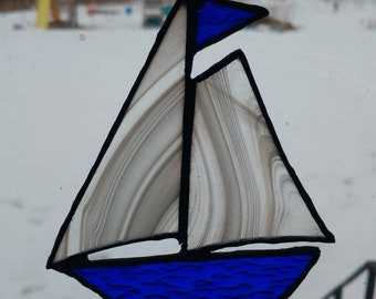 Stained Glass Sailboat Suncatchers