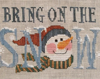 Waxing Moon Cross Stitch Pattern: BRING on the SNOW